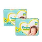 Kit FraldasPampers Premium Care Recém Nascido com 72 Unidades - 2 à 4,5Kg