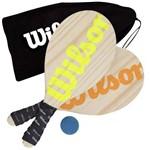 Kit Frescobol Wilson Pinus com 2 Raquetes e 1 Bola Tênis