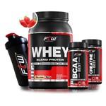 Kit Ftw (Whey Protein + Bcaa + Creatina + Coqueteleira)