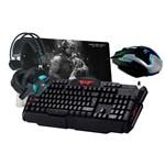 Kit Gamer Blackbird 3 - Teclado, Fone, Mouse, Mouse Pad