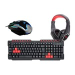 Kit Gamer Crow - Teclado + Mouse + Headphone