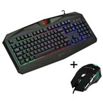 Kit Gamer Knup Teclado e Mouse
