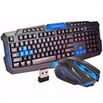 Kit Gamer Mouse e Teclado Sem Fio Wireless - HK-8100