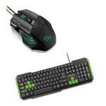 Kit Gamer Verde Teclado Gamer Tc201 Mouse Mo207 + Mouse Pad Multilaser