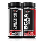 Kit Ganho de Massa - Bcaa Best 120 Caps + Creatine Best 100g - FTW