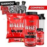 Kit Ganho Peso Massa Magra - Whey Nutri + Maltodextrina + Creatina + Bcaa - Integralmedica I