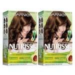 Kit Garnier Nutrisse - Coloração 43 Cappuccino Kit