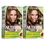 Kit Garnier Nutrisse - Coloração 53 Castanho Caramelo Kit