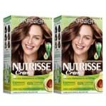 Kit Garnier Nutrisse - Coloração 57 Chocolate Amargo Kit