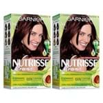 Kit Garnier Nutrisse - Coloração 366 Acaju Purpura Kit