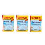 Kit 3 Genclor Cloro Granulado Estabilizado 1kg Genco
