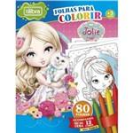 Kit Giz + Mini Folhas para Colorir Jolie Tilibra