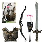 Kit Gladiador Combate Espada Armadura Arco Flecha Medieval