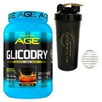Kit Glicodry 2,1kg Guaraná +Coqueteleira 600ml com Mola