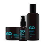 Kit GO Fresh Shampoo, Óleo e Balm (3 Produtos) Conjunto