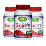 Kit 3 Goji Life Premium - Goji Berry - 180 Cápsulas Unilife