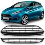 Kit Grade Central do Parachoque - New Fiesta 2014 a 2017 C/ Friso Cromado