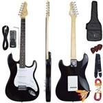 Kit Guitarra Elétrica Strato G100 Bk/wh Preta Giannini