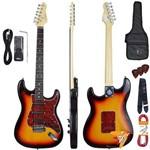 Kit Guitarra Elétrica Strato G100 3ts/tt Sunburst Giannini