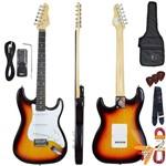 Kit Guitarra Elétrica Strato G100 3ts/wh Sunburst Giannini