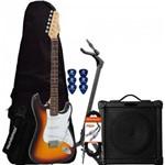 Kit Guitarra G-100 Sunburst Giannini + Cubo + Capa + Acessórios