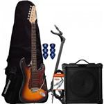 Kit Guitarra G-100 Sunburst Tortoise Giannini + Cubo + Capa + Acessórios