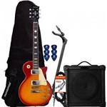 Kit Guitarra Les Paul Lps-230 Cherry Sunburst Strinberg + Cubo + Acessórios
