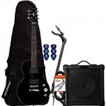 Kit Guitarra Lps-200 Preta Strinberg + Cubo + Acessórios