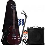 Kit Guitarra Lps-200 Translucent Wine Red Strinberg + Cubo + Acessórios