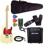 Kit Guitarra Phx Telecaster Tl1 Creme Cubo Meteoro Afinador