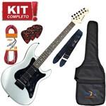 Kit Guitarra Strato Egs267 Captação Dupla Msi Prata Strinberg Completo