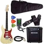 Kit Guitarra Strato Phx St-h Creme + Cubo Meteoro Afinador