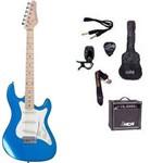 Kit Guitarra Strato Strinberg STS-100 com Acessórios + Amplificador AZUL