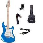 Kit Guitarra Strato Strinberg STS100 +Afinador + Capa + Correia + Cabo + Palhetas AZUL