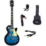 Kit Guitarra Strinberg Les Paul LPS230 + Afinador Digital + Acessórios AZUL