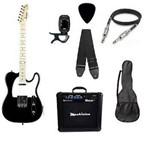 Kit Guitarra Strinberg Telecaster Tc120s Preta com Amplificador