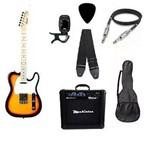Kit Guitarra Strinberg Telecaster Tc120s Sunburst com Amplificador