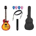 Kit Guitarra Waldman Glp 750q Les Paul Lap Sublime Capa Alça