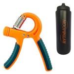 Kit Hand Grip C/ Mola Ajustável de Força - Liveup 10 a 40 Kg + Squeeze Automático 1lt