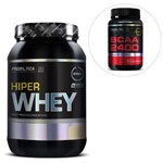 Kit Hiper Whey 900g Baunilha + BCAA 2400 60 Tabletes - Probiótica