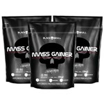 Kit 3 Hipercalórico Hiper Mass Gainer 9kg - Black Skull