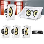 Kit Home Theater 5.0 JBL Receiver AVR 1010 + Caixa de Embutir CI8SA + Canal Central CI55RA