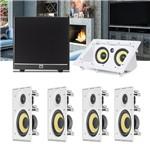 Kit Home Theater 5.1 JBL Caixa de Embutir CI6R + Canal Central CI55RA + Sub 100 Residencial Gesso