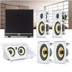 Kit Home Theater 5.1 JBL Caixa de Embutir CI6R + CI6S + Central CI55RA + Sub 100 Residencial Gesso