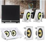 Kit Home Theater 5.1 JBL Caixa de Embutir CI6SA + CI6S + Central CI55RA + Sub 100 Residencial Gesso