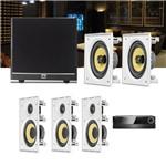 Kit Home Theater 5.1 JBL Receiver AVR 1010 + Caixa Embutir Teto CI6R + CI6S + Sub 100
