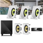 Kit Home Theater 5.1 JBL Receiver AVR 1010 + Caixa Embutir Teto CI6SA + CI6S + Sub 210 Residencial