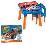 Kit Hot Wheels Blocos de Montar Carrinho Radical Doombug com Mesa e Cadeira - Fun Divirta-se