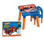 Kit Hot Wheels Blocos de Montar Carrinho Radical Scorpion com Mesa e Cadeira - Fun Divirta-se