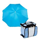 Kit Ice Cooler 7,5 Litros + Guarda Sol Fashion 003545 - Mor